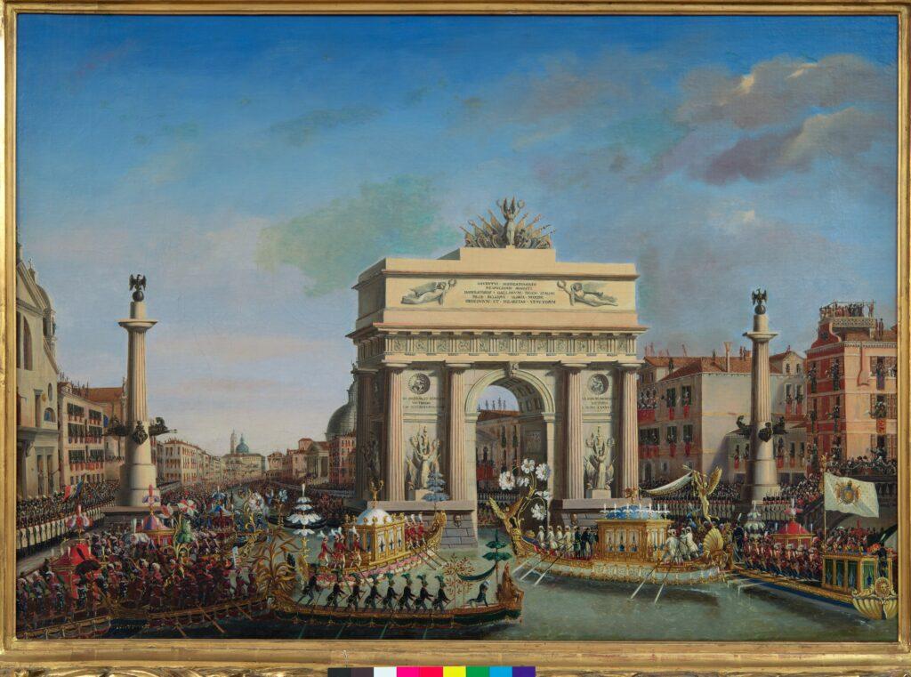 L'Empereur Napoléon 1er préside la régate à Venise, 2 décembre 1807 BORSATO Giuseppe (Venise 1771 – Venise 1849)